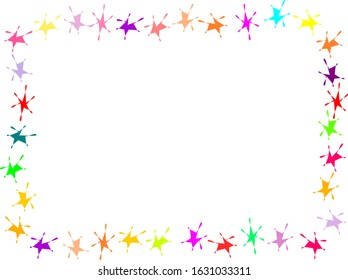 Blank page with colorful page frame