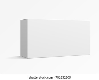 Blank paper box mockup, white box template for design uses in 3d illustration