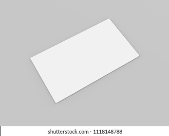 Blank paper envelopes, DL Envelopes mockup front and back view on a light grey background, 3d illustration
