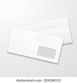 Blank paper envelopes. Email marketing concept. Business correspondence illustration