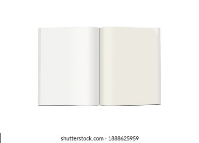 blank paper isolated on white background