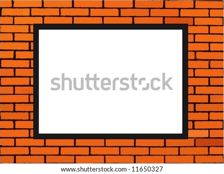 Blank Paper Note On Brick Wall Stock Illustration 11650327