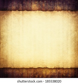 Blank paper sheet on grunge background