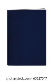 blank passport blue cover