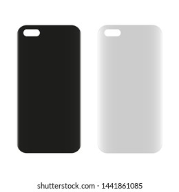 Blank phone case.  illustration. Technology concept.