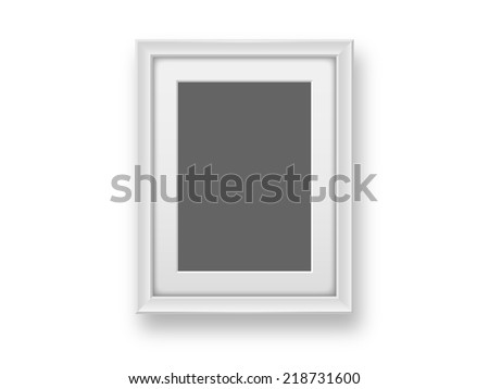 Blank Picture Frame Template Hanging On Stock Illustration 218731600 ...
