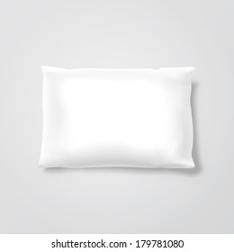 Blank Pillow Isolated on Background