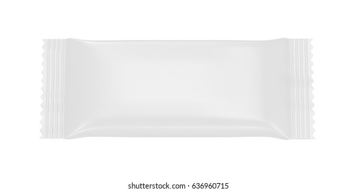 Blank plastic packaging isolated on white background, 3D rendering