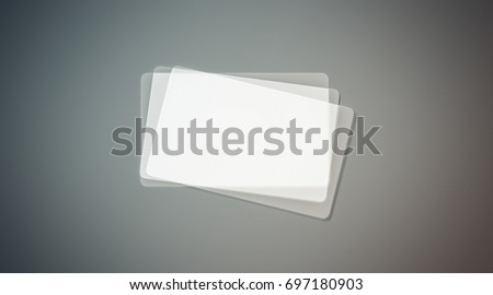 blank plastic transparent business cards stack mock up 3d rendering clear pvc namecard mockup - Transparent Business Cards