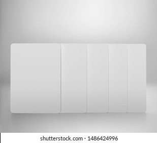 Blank Playing Card box with white cards, 3d rendered on light gray background