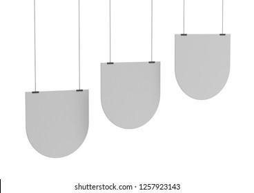 Blank Poster, Hanger Or Banner 3D render