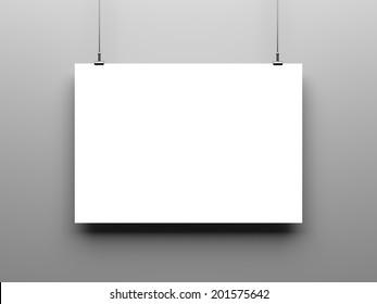 Blank poster, mockup