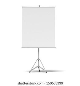 blank presentation roller screen