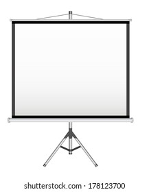 Blank Projection screen on white background