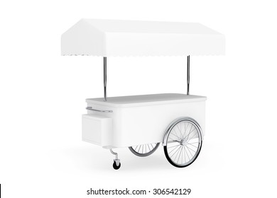 Blank Promotion Cart and Canopy on a white background