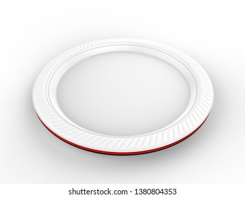 Paper Plate White Stock Illustrations Images Vectors