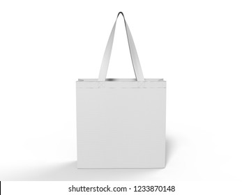 Blank Promotional Tote Bag for Branding. 3d Rendering Illustration.