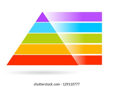 Blank pyramid, add your text