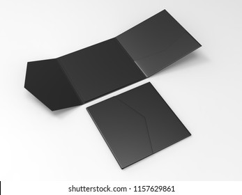 Blank realistic invitation envelope mock up. 3d rendering illustration.