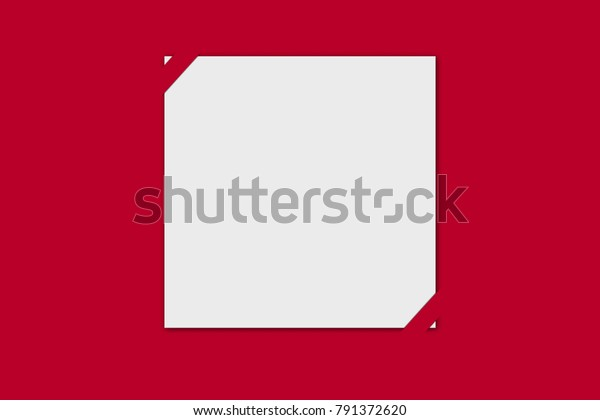 Blank Red White Greetings Card Template Stock Illustration