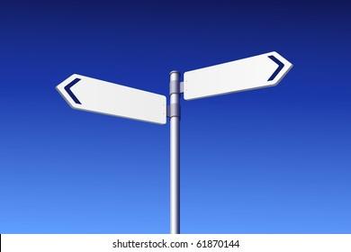 Blank road signs -  vector edition in portfolio