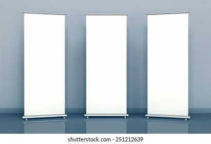 Blank roll-up banners