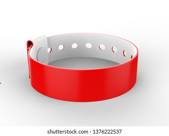 Blank Security Wristband Tag For Your Event And Parties. 3d render illustration.