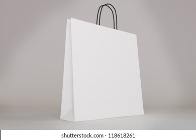 Blank shopping bag template with clipping path for you to show off your design