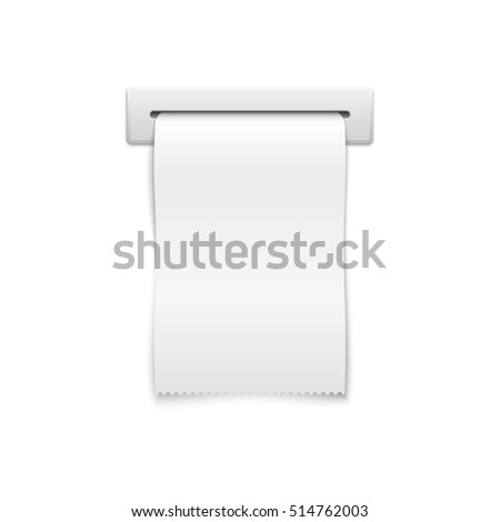 blank shopping cash receipt template financial stock illustration