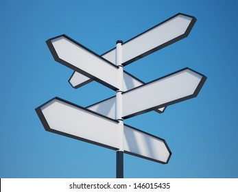 Blank Signpost with Clipping Path