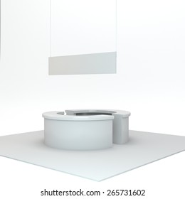 blank simple stall n exhibition or trade fair