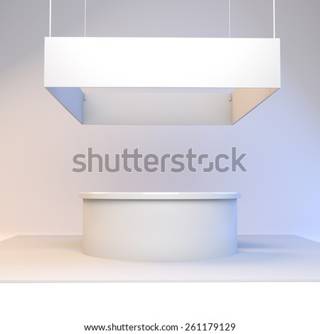 Simple Exhibition Stall : Blank simple stall n exhibition trade stock illustration