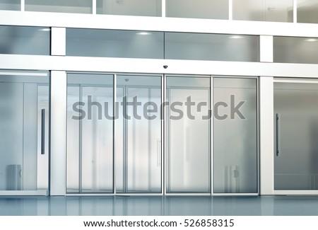 Blank sliding glass doors