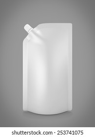 Blank spout pouch with cap or doy pack isolated on white. 3d illustration.