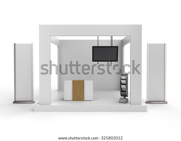 Trade Fair Stands Design : Whiteid u integrated design slanting trade fair stand for