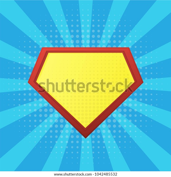 Blank Superhero Badge.