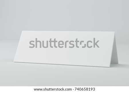 Blank Table Template | Blank Table Card Sign Template 3 D Stock Illustration 740658193