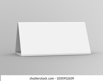 blank table tent 3 d render table stock illustration 1039366366