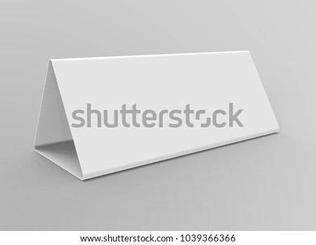 blank table tent 3 d render tableのイラスト素材 1039366366