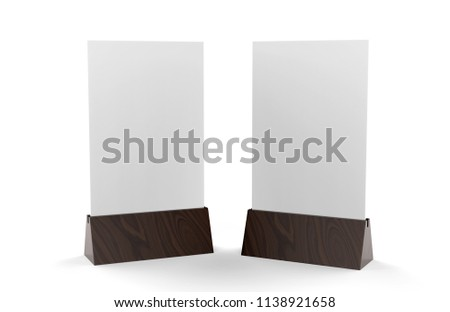 Blank Table Template   Blank Table Tent Mock Template On Stockillustration 1138921658