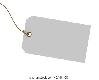 Blank tag isolated on white background.  Gift tag, Price tag, sale tag or etc.