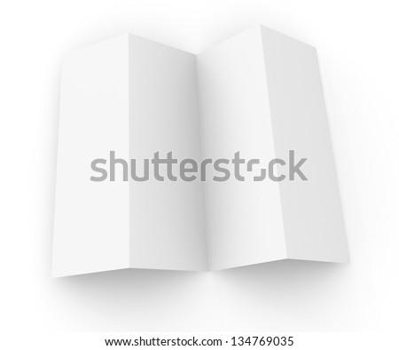 blank template 4 panel brochure stock illustration 134769035