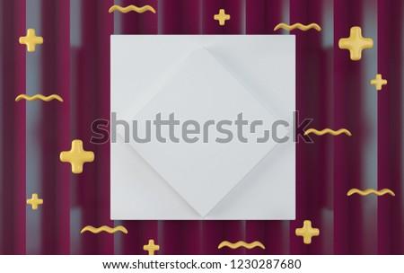 Blank Template Flyer Advertisement Minimalist Style Stock