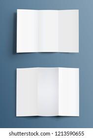 Blank template of folded brochure