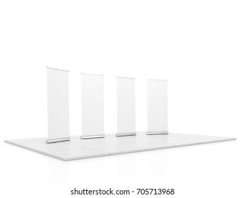Blank square glass trophy mockup, 3d rendering  Empty