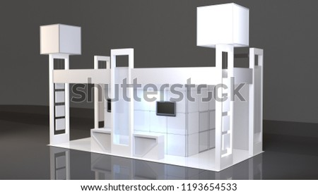 Exhibition Booth Mockup Free Download : Blank trade show booth mockup d stock illustration