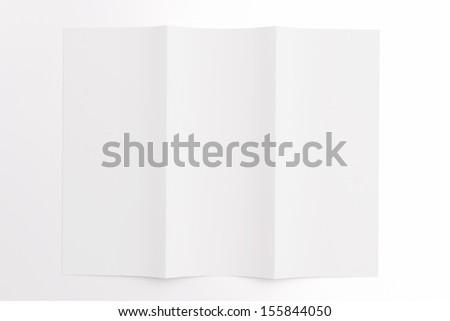 blank tri fold brochure isolated on stock illustration 155844050