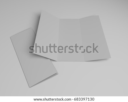 blank trifold brochure design template 3 d stock illustration