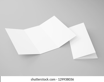 blank tri fold brochure isolated on stock illustration 155844005