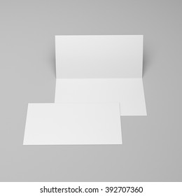 blank two-leaf brochure